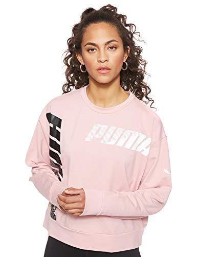 PUMA Modern Sport Crew Sweat Sudadera, Mujer, Bridal Rose, XL