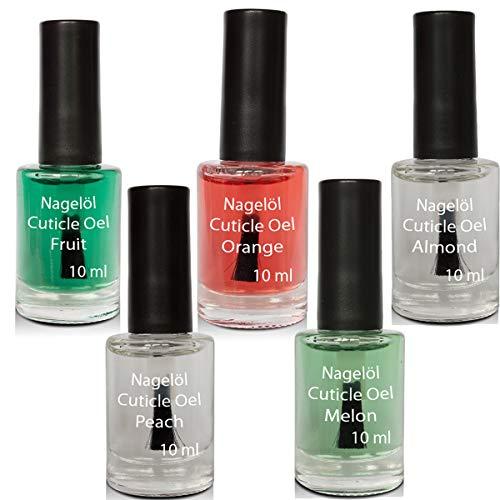 Olio per unghie in una bottiglia di pennello Set N°2, Melon, Peach,...