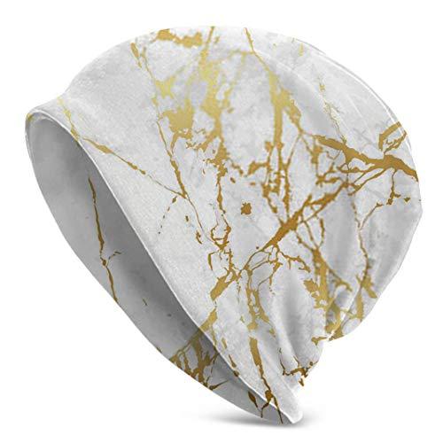 Diseño de mármol con diseño de Textura Dorada para Gorra de Reloj de Lujo Gorro de Gorro de Calavera Gorro de Invierno para Hombre para Diario y