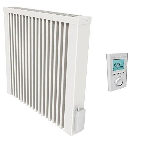 Thermotec Flächenspeicherheizung mit Funk-Thermostat, 1300W mit Speicherkern aus Schamottestein