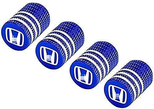 4 Piezas Coche Rueda Neumático Válvula Tapas para Civic Accord Jazz CRV HRV Crosstour City Odyssey Jade Insight, Car Impermeable Herrumbre Anti-Polvo Antirrobo con Logo Accesorios