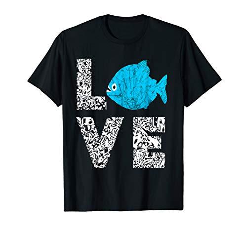 Piranha Fisch Amazonas Sägesalmler Fleischfresser T-Shirt