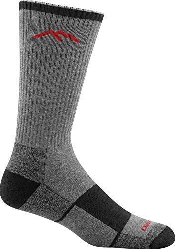 Darn Tough Coolmax Boot Full Cushion Sock - Men's Gray/Black Large