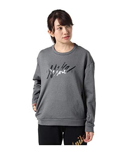 Nike Women's Regular T-Shirt (BV5226-011 HTR/Black XL)