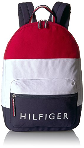 Tommy Hilfiger Mochila Patriot Tela Colorblock, Azul-marinho/vermelho/branco, One Size