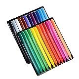 Crayones triangulares para colorear lápices de colores 24 colores Caja de plumas de pintura no tóxica, bebé y estampado de pies