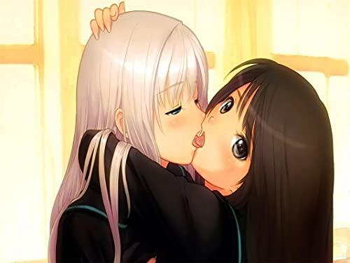 QAZZSF Jigsaw Puzzle 1000 Pezzi per Adulti Adulti, Set di Puzzle per Famiglie, Giochi Educativi - Kiss Yuri Anime Girls