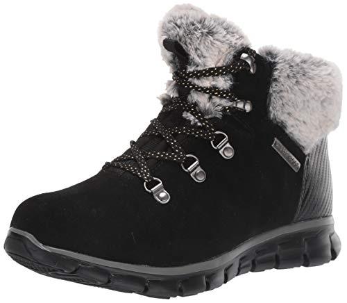 Skechers Women's SNERGY Ankle Boots, Black (Black Suede/Grey Faux Fur Blk), 5 (38 EU)