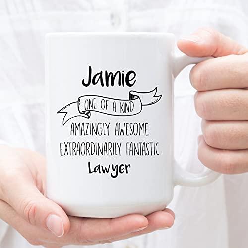 DKISEE Taza personalizada del té del café del café para el abogado, regalos personalizados para el abogado, perfecto para el abogado