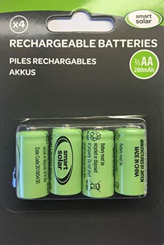 Wiederaufladbare Batterien 4x 2/3 AA 10mAh fr Produkte Solar
