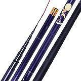 JIAGU Mosca de caña de Pescar 6.3M / 7.2M Caña de Pescar Caña de Pesca de Carbono Rod de Mano al Aire Libre Material de Pesca al Aire Libre Suministros Barras de Mosca de Agua Dulce