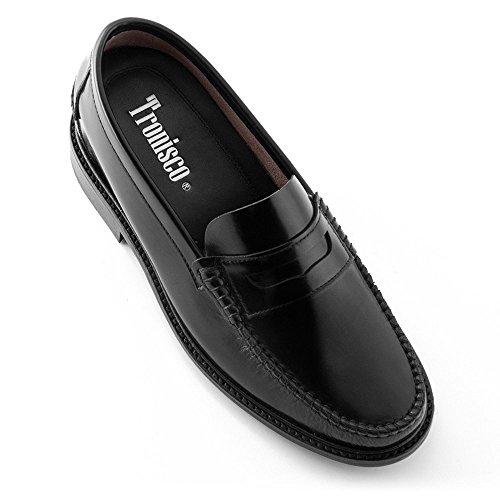 Zapatos de Hombre con Alzas Que Aumentan Altura hasta 7 cm. Fabricados en Piel. Modelo Arosa Negro 42