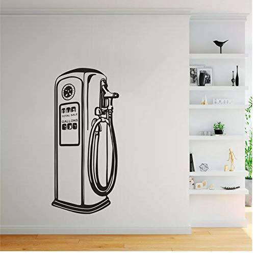 Gas Car Repair Store Adesivi murali Pompa di benzina Poster da parete in vinile Servizio di autoveicolo Adesivo da parete Adesivi per garage Decor 57x123cm