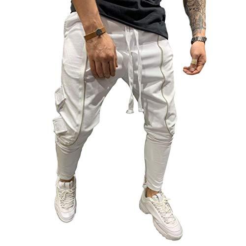 Capabes Jogging-Trainingsanzug für Herren, Freizeit-Jogginghose, Sporthose mit offenem Saum, leichte Jogger-Slim-Fit-Hose XXL