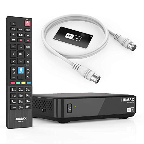 Humax Sat Receiver HD Nano Eco Set mit Sat Kabel - digital, dvb s, Schwarz