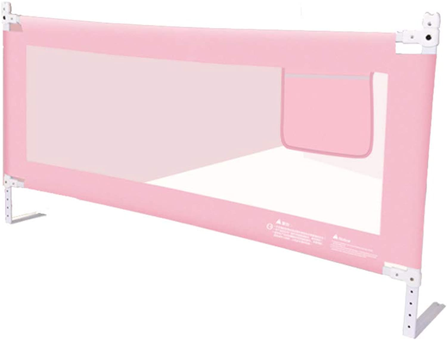 MAHZONG Bed Rails Baby and Toddler Safety Bed Rails, Foldable Crib Rails, Nylon Fabric -150cm, 180cm, 200cm80cm (color   Pink, Size   L-180cm)