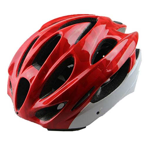 Casco de Bicicleta de moldeo Integrado Casco Adulto Hombres Mujeres Casco de Bicicleta de Carretera Transpirable Casco de Ciclismo Ajustable Unisex