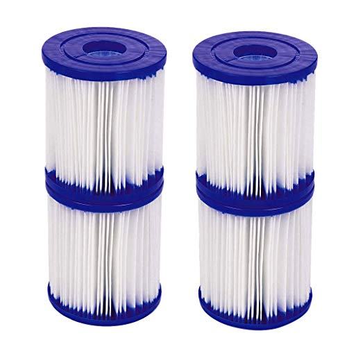 COOLLL Pool Filter Cartridges Replacement -Multi-pack Universal Fit for Intex & More Model Pool Cartridge Filter Type H for Intex Pool Filter Pumps
