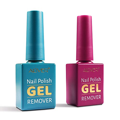 Gel Nail Polish Remover, (2Pack) Nail Polish Remover, Removes Soak-Off Gel Polish, Quickly, Clean and Harmless, Easy to Use, Don't Hurt Your Nails - 15ml