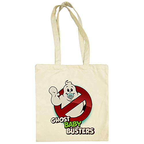 Bolsa de tela parodia Ghost Baby Busters cazafantasmitas - Beige, 38 x 42 cm