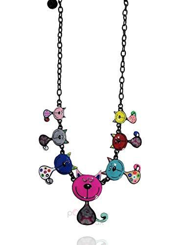 Lol Bijoux – Collar de gato – Multicolor – fucsia – POpup-BijOux
