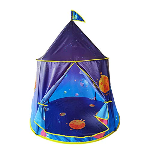 Space World Play Kids Tent - Space-Themed Indoor Playhouse Tent with Toy for Kids Boys and Girls