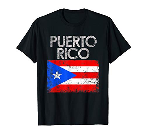 Vintage Puerto Rico Puerto Rican Flag Pride Gift T-Shirt