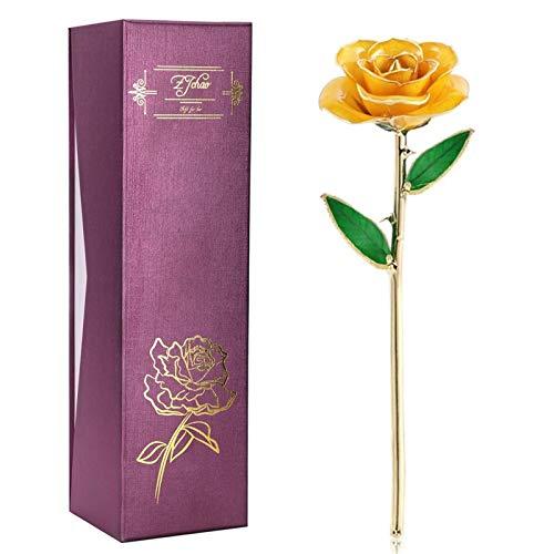 ZJchao Rose artificielle pour Saint Valentin, anniversaire de mariage ou fête des mères