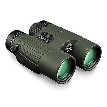 Vortex Fury HD 5000 Laser Rangefinder Binocular, 10x42, Roof Prism, Forest Green, LRF301