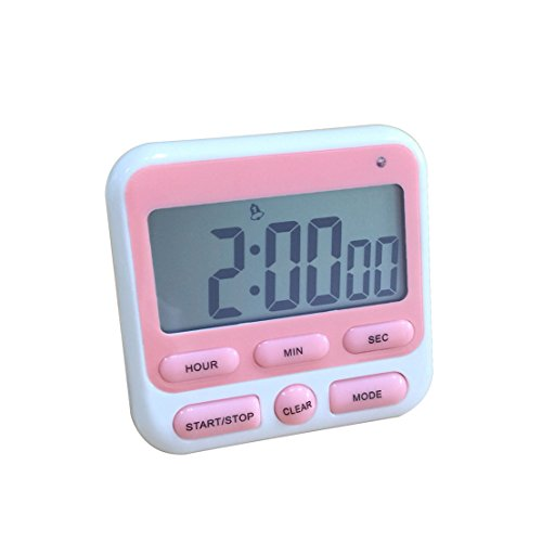 Luoke Digital Kitchen Timer, Cooking Timer Multifunction with Big Digits LCD Display Loud Alarm,Magnetic Backing Stand for Cooking Baking Sports Games Office (Color 4)