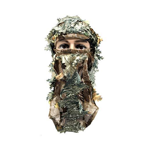 VORCOOL Máscara de Cara Completa de Camuflaje 3D para Caza Ejército Senderismo Ciclismo y Fotografía del Aire de Libre Tamaño Libre