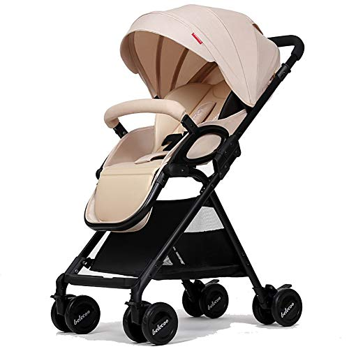 Learn More About Baby Stroller Can Sit and Lie Down Lightweight Folding Shock Absorption Infant 0-3 ...