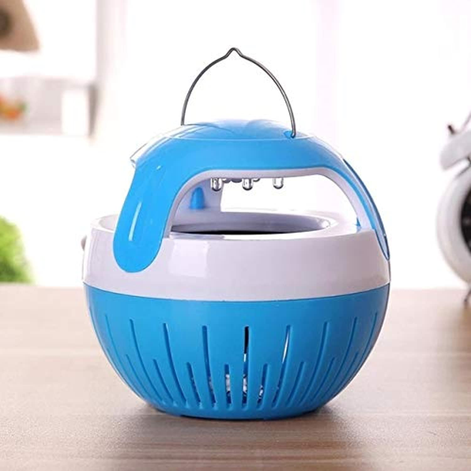 Mosquito Killer LED Socket Electric Mosquito Fly Bug Insect Trap Killer Zapper Night Lamp Lights 18may27   blueee