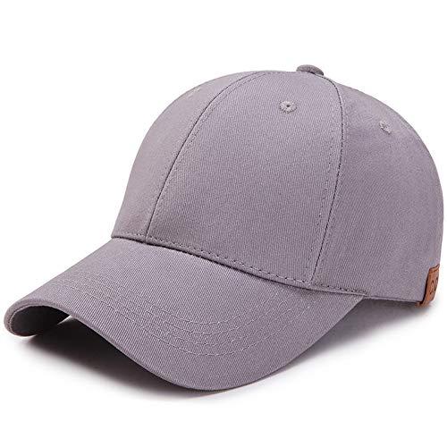Nueva Gorra de béisbol de Cola de Caballo para Mujer, Color sólido, sombrilla Transpirable, sombrilla después de Abrir el Sombrero de algodón 8 Ajustable