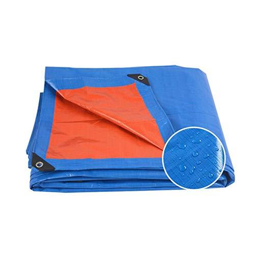 LJYT-SH PE Dekzeil Waterdicht Zwaar Dekzeil Dekzeil met Oogjes voor Tuinmeubelen, Hutch, Trampoline, Hout, Auto, Camping of Tuinieren - 2x2m/6x6ft,160g/m2,Blauw 3x4m(10x13ft) Blauw