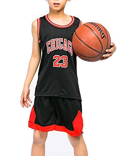 Hanbao Kinder NBA Michael Jordan # 23 Chicago Bulls Trikot Basketball Anzug Basketball Swingman Top & Shorts