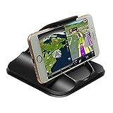 NOVHOME Soporte Teléfono Coche, Soporte de Coche para teléfono para salpicadero Soporte de Montaje de Coche de 3M Adhesivo Fuerte para iPhone de 3-7 Pulgadas Samsung GPS Almohadillas de Gel