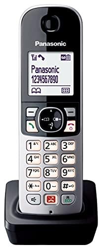 Panasonic KX-TGA685 Teléfono Fijo Inalámbrico Digital (Bloqueo de Llamadas Automáticas, Manos Libres, Modo No Molestar, Distintos Tonos de Llamada, Agenda, Monitor de Bebes)- Negro