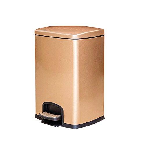 home @ poubelle Poubelle en acier inoxydable, couvercle Bac à papier à barres de stockage à pied 20L (27,5 * 31,8 * 45 cm) (Couleur : B, taille : 20L(27.5 * 31.8 * 45CM))