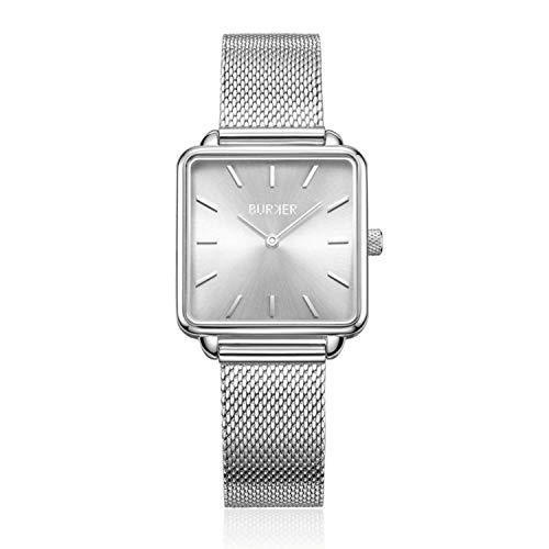 Burker Chloe Damenuhr | 28mm Uhr für Damen mit Ziffernblatt | Frauen Quarz Armbanduhr wasserdicht (30M) | Kleines Flaches Watch Gehäuse – Uhren Armband inklusive