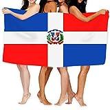 Mengghy Toalla de playa de 78,7 x 129,5 cm, suave, ligera, absorbente para baño, piscina, yoga, pilates, manta de picnic, toalla de la bandera de República Dominicana