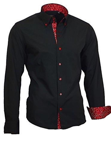 Binder de Luxe Herren Herren Hemd modern fit Langarm schwarz 44