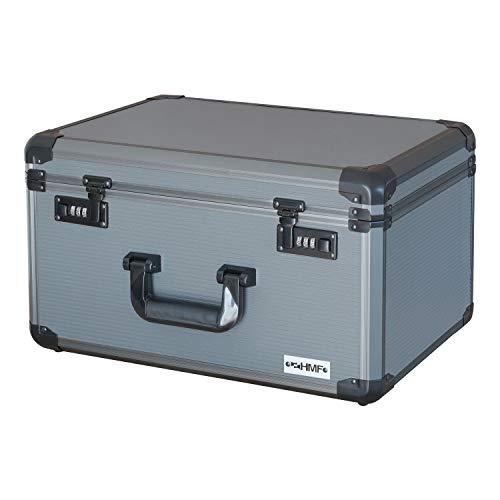 HMF 14412-02 Alu Fotokoffer, Miniaturenkoffer mit Rasterschaumstoff   46 x 33 x 26 cm