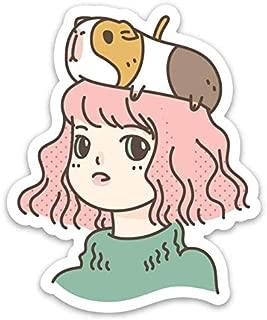 Guinea Pig Lady Vinyl Sticker
