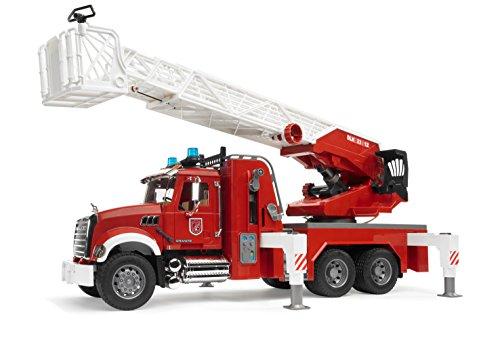 Bruder 02821 - MACK Granite Feuerwehrleiterwagen mit Pumpe