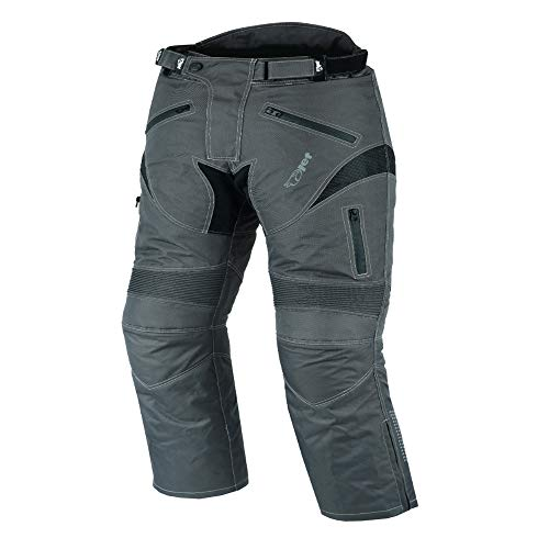 JET Pantalones moto motocicleta hombre vaqueros impermeable con protecciones cordua Dynamo (64 Corto/Cintura 48