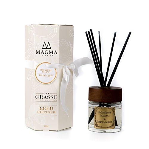 Magma London - Bouquet Blanc & Bergamot - Diffuseur de luxe à anche - Coffret Deluxe 100 ml