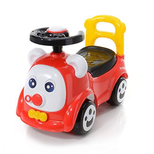BABY PLUS My First Car, Rutscherauto, Lauflernwagen mit Kofferraum unter der Sitzfläche, Rückenlehne, Kippschutz und Hupe