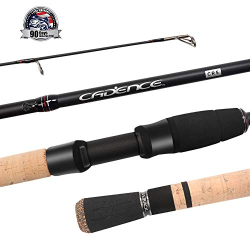 Cadence Fishing CR5 Spinning Rods | 30 Ton Carbon | Fuji Reel Seat | Stainless Steel Guides with SiC Inserts | CR5-661S-MLMF