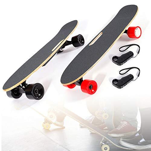 Elektrisches Skateboard - Elektro-Board,E-Longboard,Longboard Skateboard mit Funkfernbedienung für Jugendliche, Jugendliche, Erwachsene Höchstgeschwindigkeit 20km/h 350W Motor